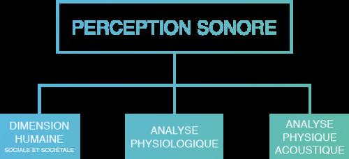 La perception sonore associe la dimension humaine, l'analyse physiologique et l'analyse physique acoustique